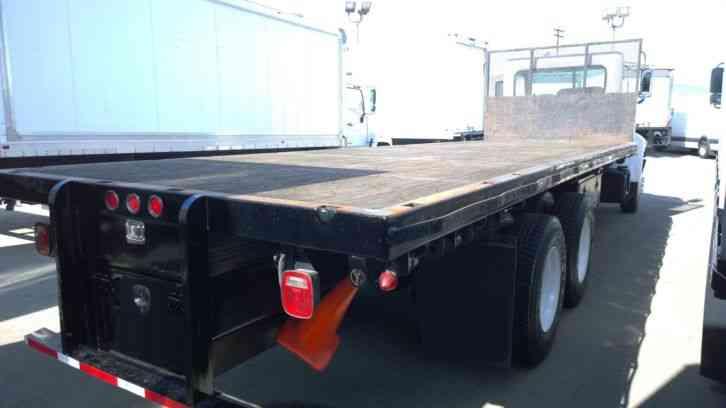 Freightliner Trucks For Sale >> Peterbilt 340, 24ft flatbed truck, 3-axle 50, 000# GVWR PX8- Cummins 300hp 6sp (2009) : Flatbeds ...