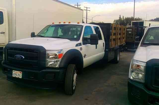 &2013 Ford F550 Stakebed Crew Cab Trucks Diesel 18000# GVWR with Liftgate (2014)