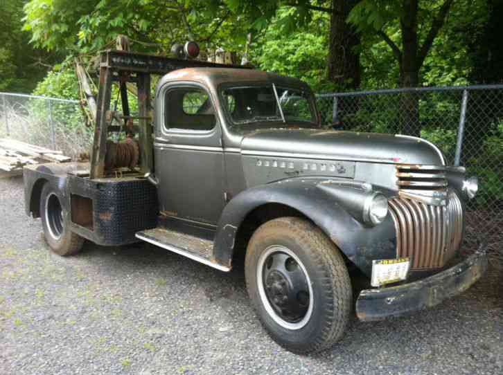 1946 Chevy Truck For Sale >> Chevrolet Tow Truck Wrecker 1946