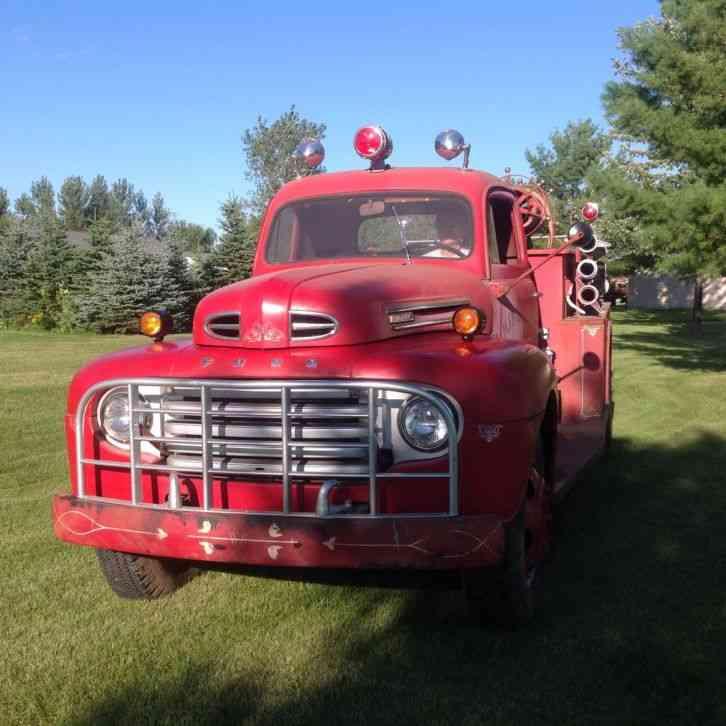 Ford F8 1949 Emergency Amp Fire Trucks