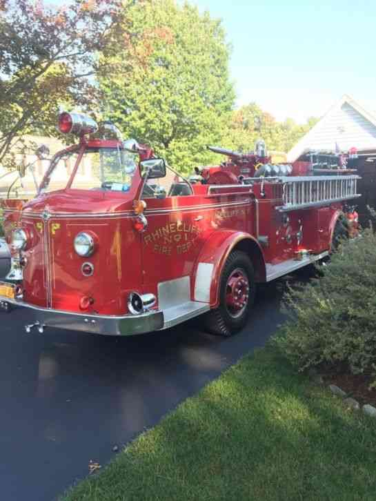 American Lafrance 700 Open Cab 1952 Emergency Amp Fire