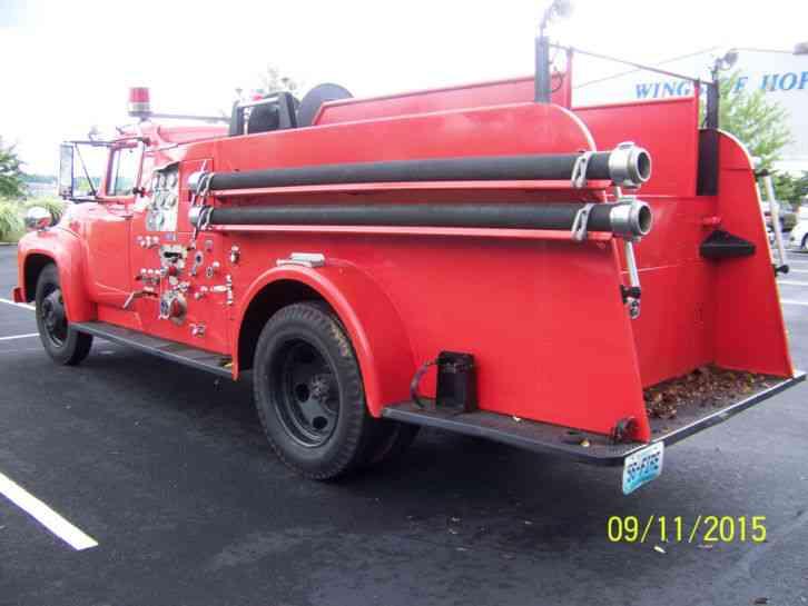 1956 Ford Fire Truck : Ford f emergency fire trucks