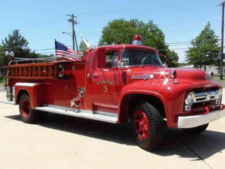 1956 Ford Fire Truck : Ford f big job emergency fire trucks