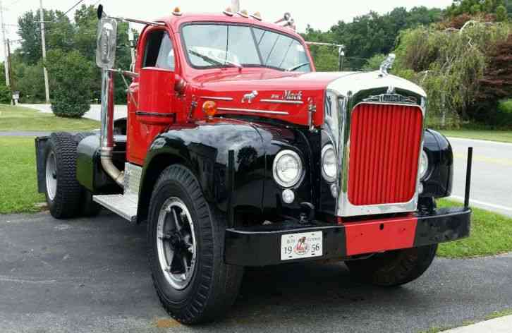 Mack B 71 1956 Daycab Semi Trucks