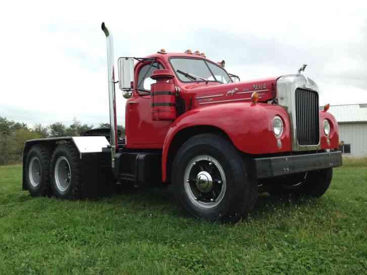 B 61 Mack Trucks : Mack b st daycab semi trucks