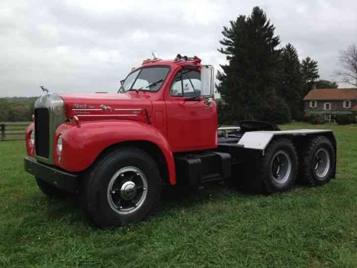 1964 Mack B Model : Mack b st daycab semi trucks