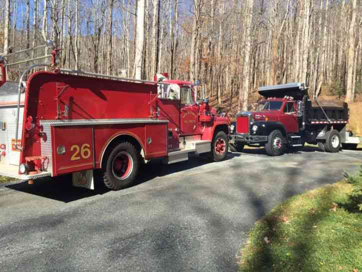 1970 Mack Truck : Mack fire truck emergency trucks
