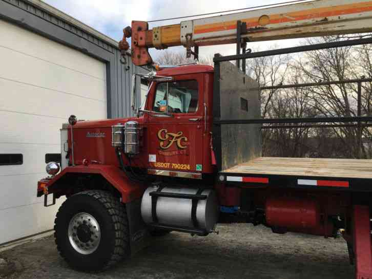 autocar 1973 jingletruck truck trucks bucket 6x6 boom enlarge foundation