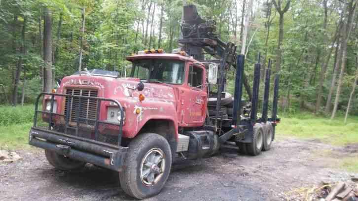 1979 Mack Tractor Truck : Mack log truck heavy duty trucks