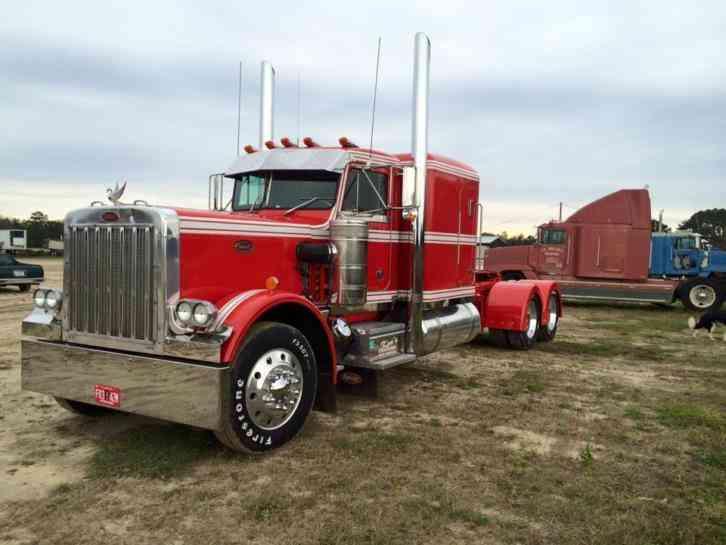Peterbilt 359 Ex Hood 1986 Sleeper Semi Trucks