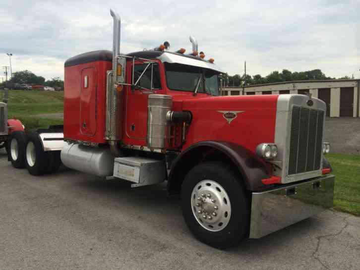 359 Extended Hood 1987 Sleeper Semi Trucks