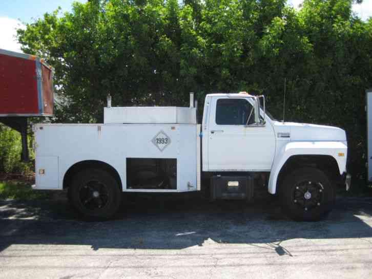 ford f 600 diesel 1988 utility service trucks. Black Bedroom Furniture Sets. Home Design Ideas