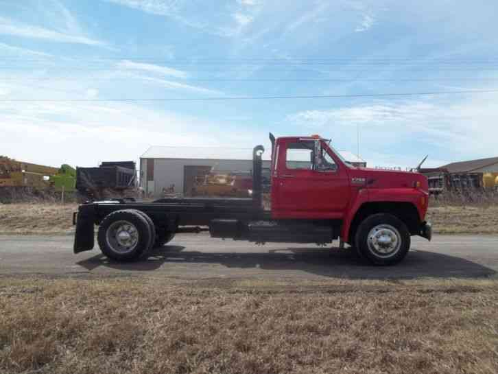 1992 Ford F700 5 Yard Dump Truck for sale by TruckSite.com - YouTube