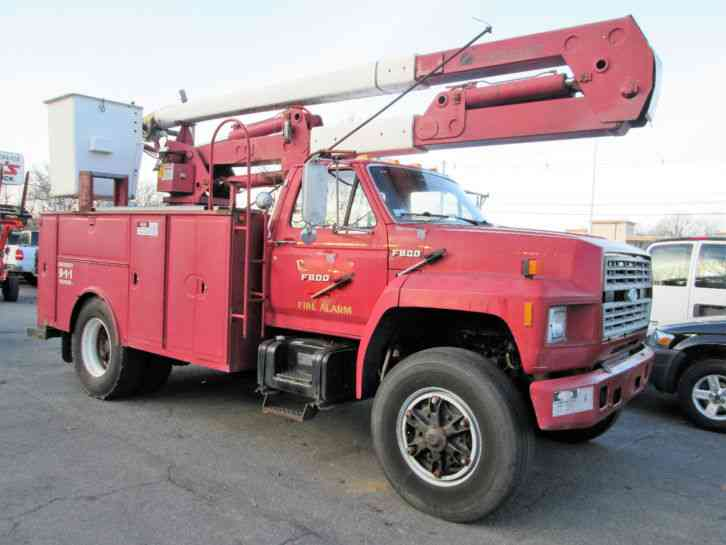 ford f800 bucket truck (1989) : bucket / boom trucks 1991 ford f800 wiring diagram