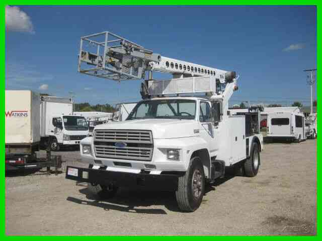 FORD F700 6. 6 DIESEL 5+2 WITH TELSTA T40C CABLE CABLE PLACER (1990)
