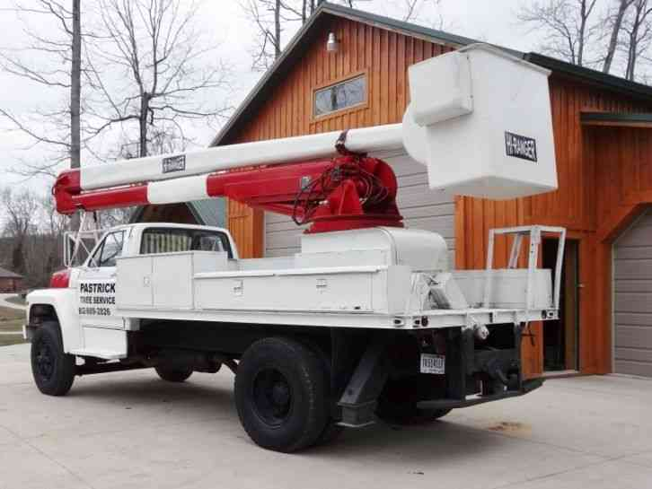 Flatbed Tow Truck >> Ford F800 (1990) : Bucket / Boom Trucks