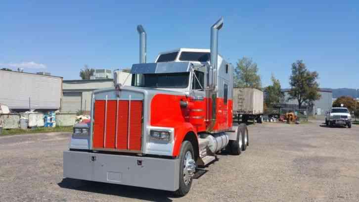 Tractor Lights 1990 : Kenworth w b daycab semi trucks