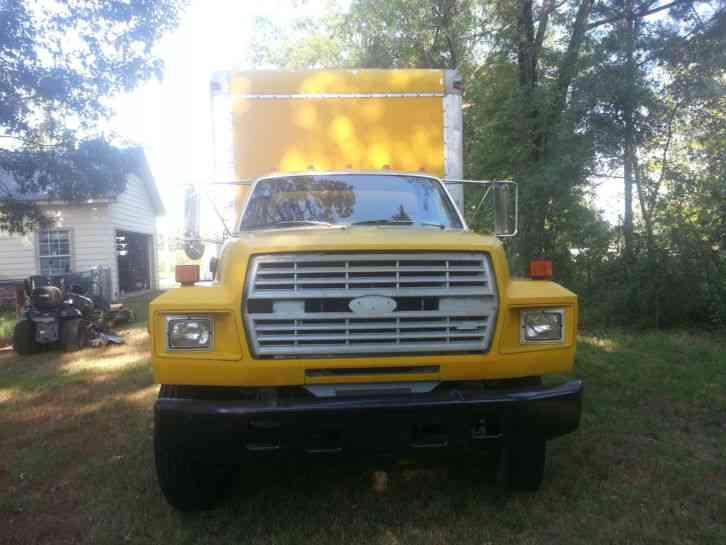 ford f700  1991  van   box trucks 1991 Ford F700 Medium Heavy 1991 Ford F700 Medium Heavy