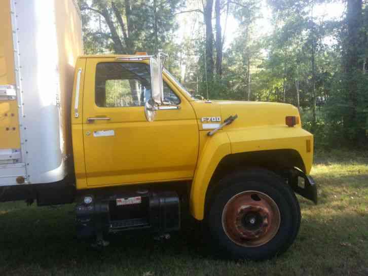 ford f700  1991  van   box trucks 1992 Ford F600 1985 Ford F700