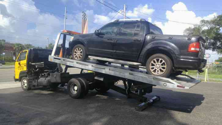 Isuzu Npr Tow Truck Flatbed Rollback on Isuzu Npr Box Truck