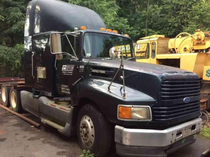 Ford ltl 9000 1992 sleeper semi trucks for Ford truck motors for sale