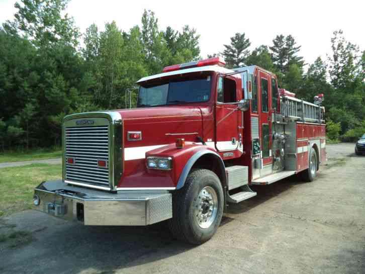 freightliner fire truck pumper 1995 emergency fire trucks. Black Bedroom Furniture Sets. Home Design Ideas