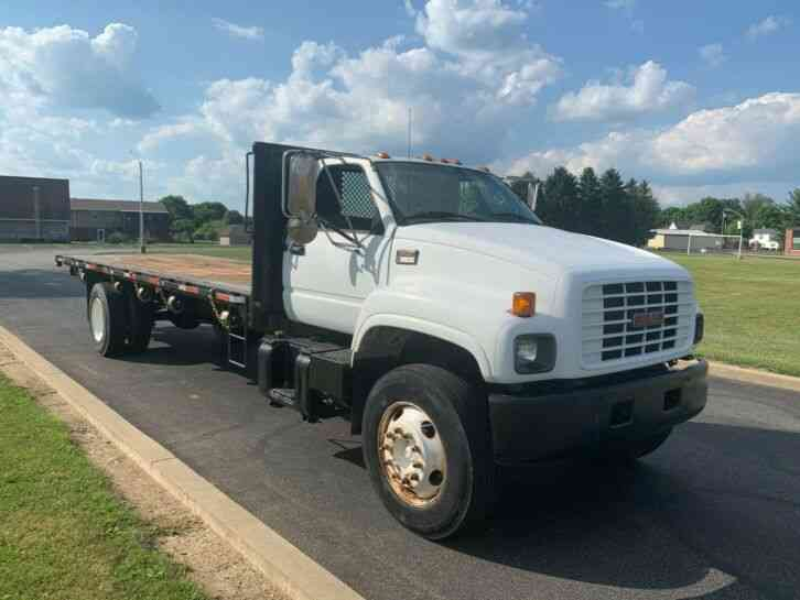GMC C-6500 TOPKICK 24FT STEEL FLAT BED DELIVERY TRUCK (1999)