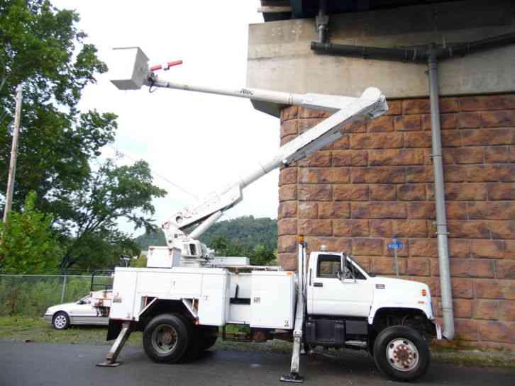 gmc c 8500 55ft altec service bucket truck 4wd 1999 bucket rh jingletruck com Altec Boom Truck 1992 Altec Track Bucket