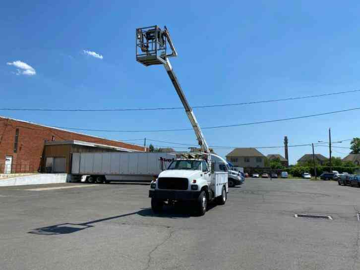 GMC C6500 POSI CABLE PLACING BUCKET BOOM TRUCK CAT (1999)