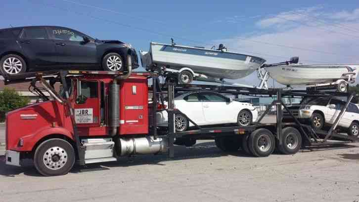 5 car hauler truck for sale	  Kenworth T-800 With Sleeper (5-Car Hauler) (1999) : Sleeper Semi Trucks