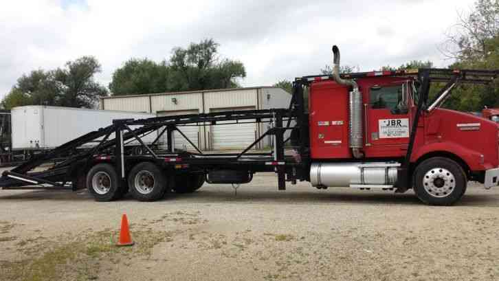 Wrecked Trucks For Sale >> Kenworth T-800 With Sleeper (5-Car Hauler) (1999) : Sleeper Semi Trucks
