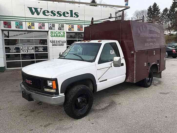Truck Utility Box >> Chevrolet 3500 4x4 Stand Up Utility Box 2000