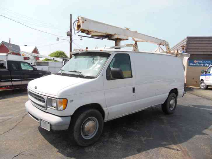 Ford E-350 VAN SERVICE BUCKET HIGH LIFT BOOM TRUCK (2000)