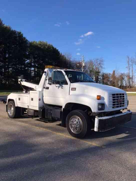 gmc c6500 tow truck wrecker wheel lift  2000    flatbeds