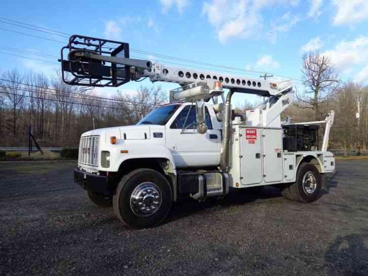 GMC C7500 CABLE PLACING BUCKET BOOM TRUCK (2000)