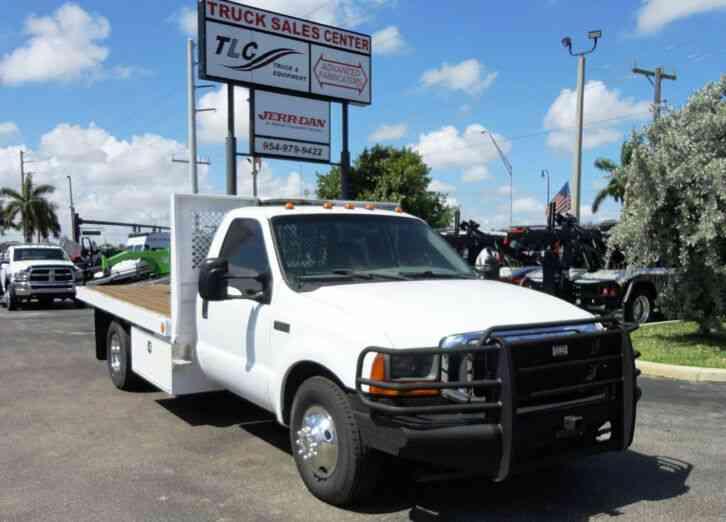 Diesel Pickup Trucks For Sale >> Ford F350 7 3l Diesel 12ft Flatbed 2001 Utility