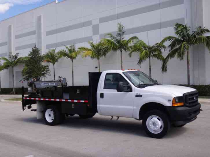 Ford F450 Super Duty Crane Flatbed (2001)