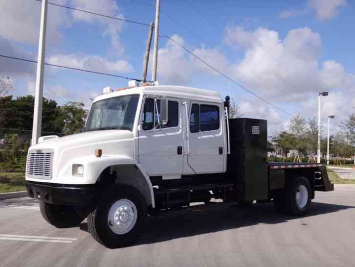freightliner fl70 4x4 crew cab 4x4 flatbed 2001 medium trucks. Black Bedroom Furniture Sets. Home Design Ideas