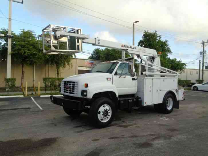 GMC C6500 CABLE PLACING BUCKET BOOM TRUCK UNDER CDL (2001)