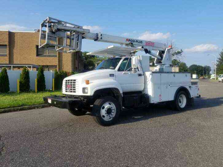 GMC C6500 CABLE PLACING BUCKET BOOM TRUCK CAT DIESEL (2001)