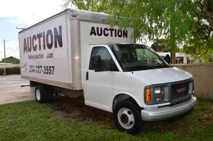 gmc savana 2001 van box trucks jingletruck com