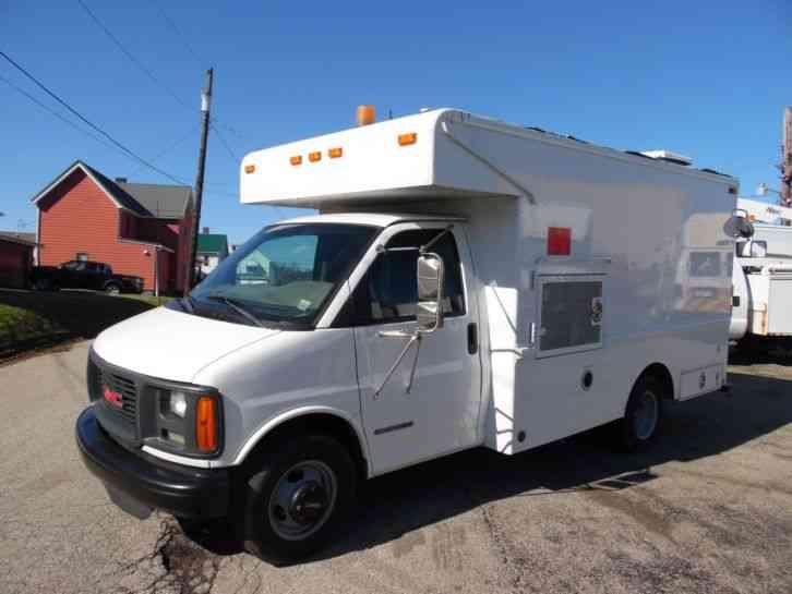gmc savana 3500 splicing lineman fiber optic truck 2001 van box trucks jingletruck com