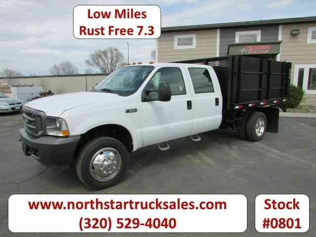 Ford F-550 7. 3 Crew Cab Tipper Flatbed -- (2002)