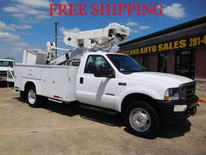 Utility Trucks For Sale >> Ford F 550 Utility Service Truck Bucket Boom Truck 7 3l 2002