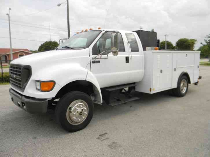 ford f650 xl 2002 utility service trucks. Black Bedroom Furniture Sets. Home Design Ideas