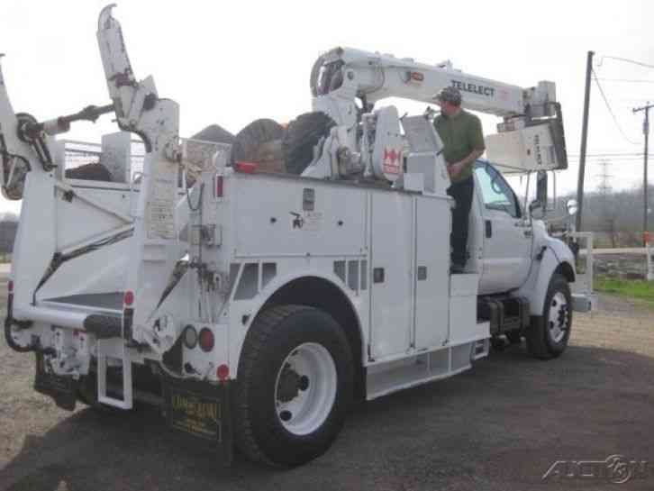 Ford F750 For Sale >> Ford F750 Cat Allison Terex Tcp40dl Placer (2002) : Bucket / Boom Trucks