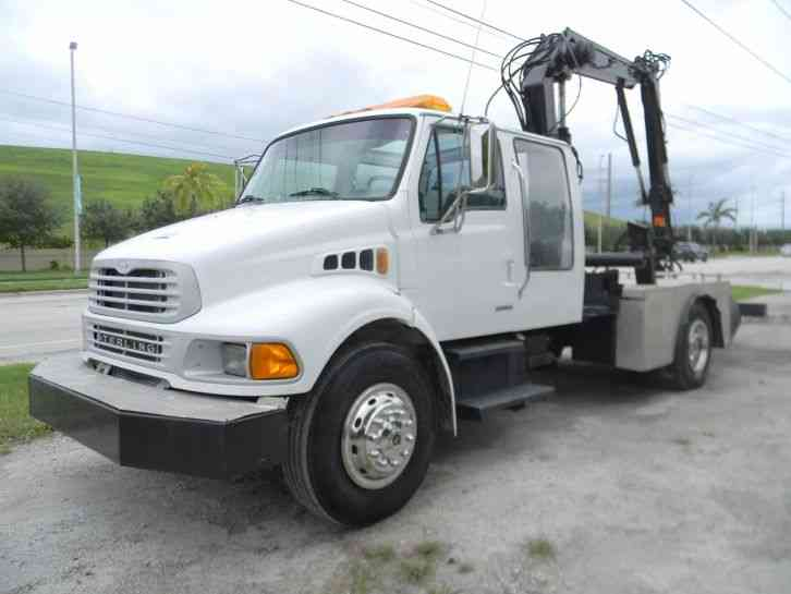 Sterling Acterra M Grapple Boom Truck L Cat Diesel Ferrari Crane on 2002 sterling garbage truck