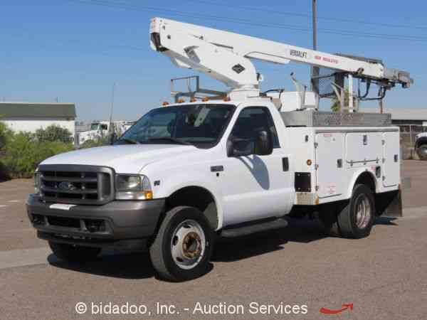 Ford F Versalift Bucket L V A T Hyd Ac Generator Air Compressor on Ford V10 Problems