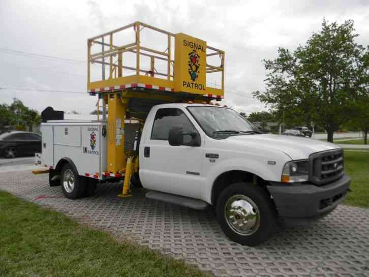 Utility Body Signs : Ford f bucket boom trucks