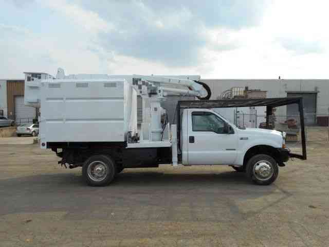 Ford F550 4x4 Bucket Boom Chipper Dump Truck Diesel 2004
